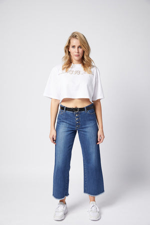 Hanger Jean. Rigid. Vintage Wash
