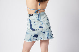 Flip It Skirt. Stretch. Moody Blue