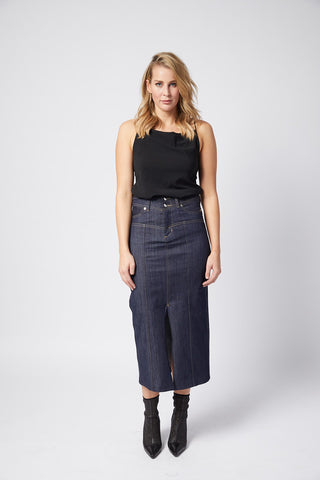 Stardom Pencil Skirt.  Empire Blue.