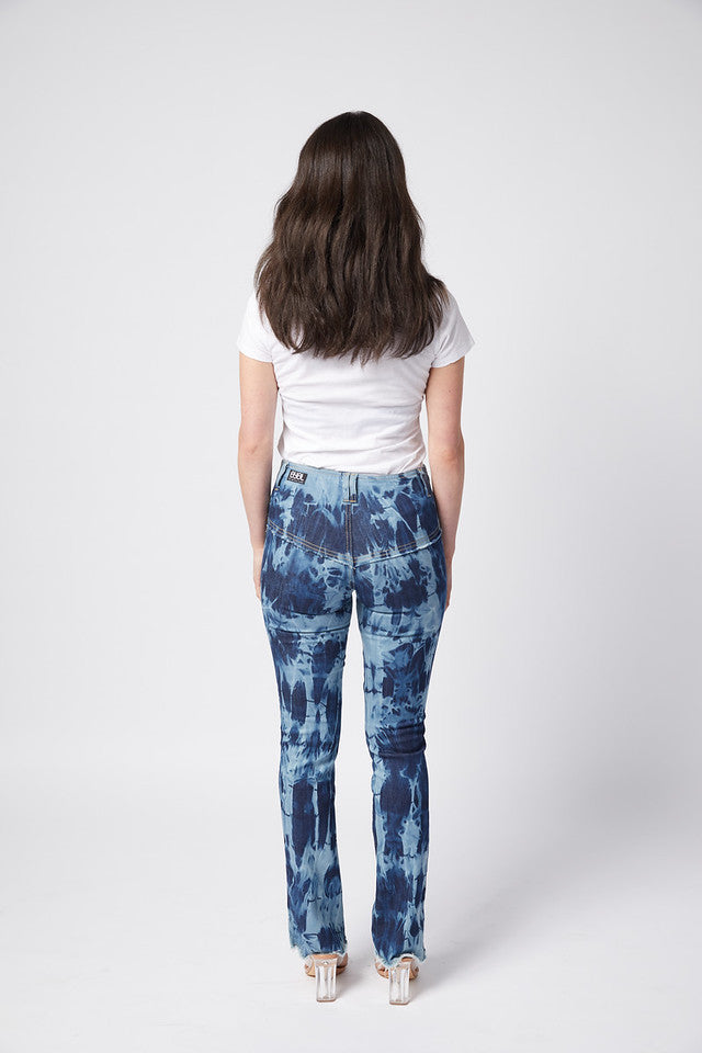 Rodeo Jean. Stretch.  Blue Tie Dye