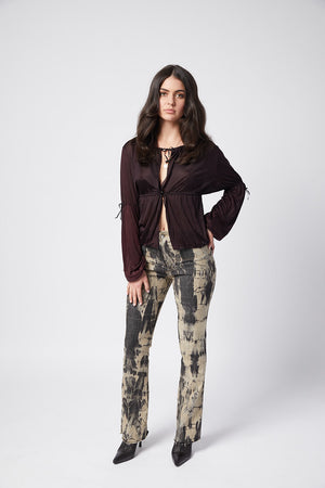 Rodeo Jean. Stretch. Black Tie Dye