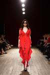 LONG DRESS CIRCUS CHERRY-RED SILK