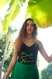 HAND-PAINTED BODY SAVE THE NATURE