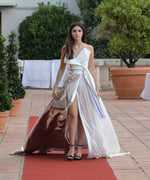 LONG DRESS WHITE AND SILVER