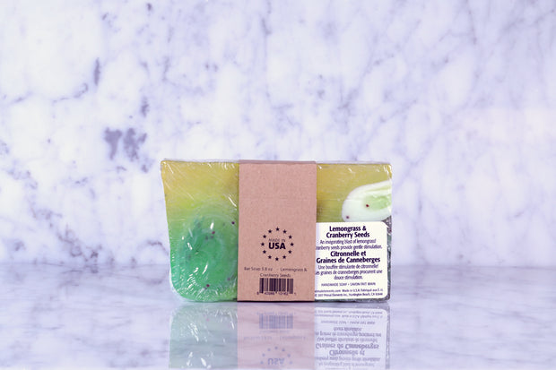 Bar Soap 5.8 oz - Lemongrass & Cranberry Seeds