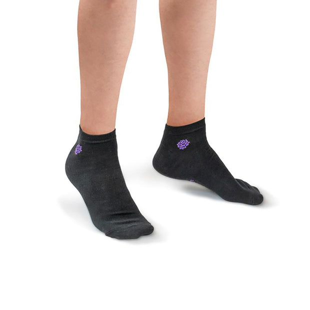 NessSocks™ 6-Pack Women's Bamboo Fiber Antibacterial Ankle Socks (M) - Black