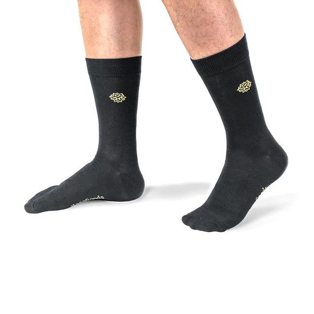NessSocks™ 6-Pack Men's Bamboo Fiber Antibacterial Dress Socks (M) - Black