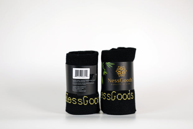 NessSocks™ 6-Pack Men's Bamboo Fiber Antibacterial Ankle Socks (M) - Black