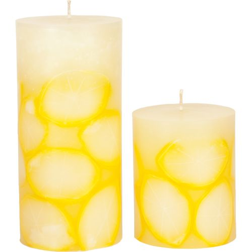 Faux Limes Pillar Candle