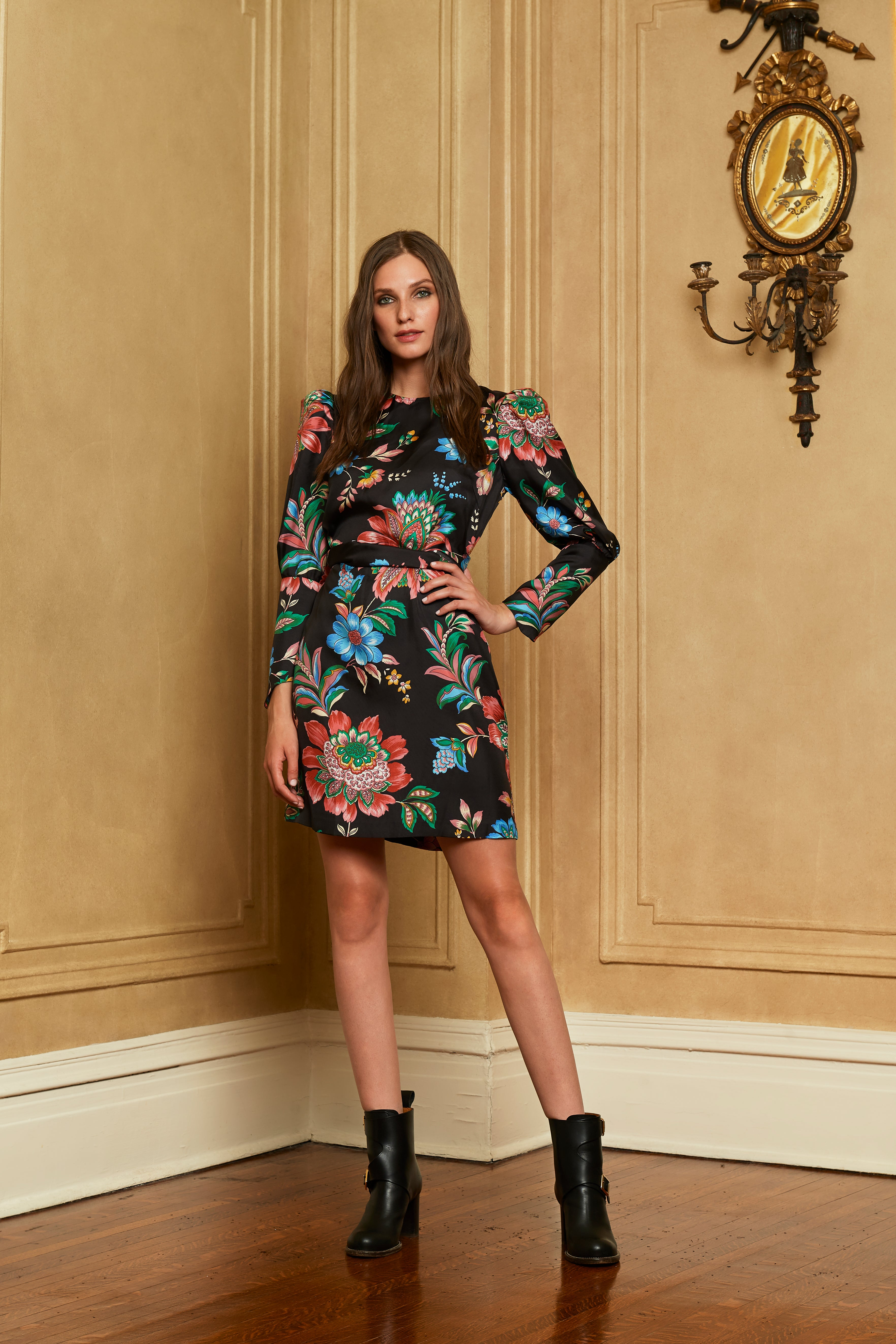 The Greta Dress | Library Floral