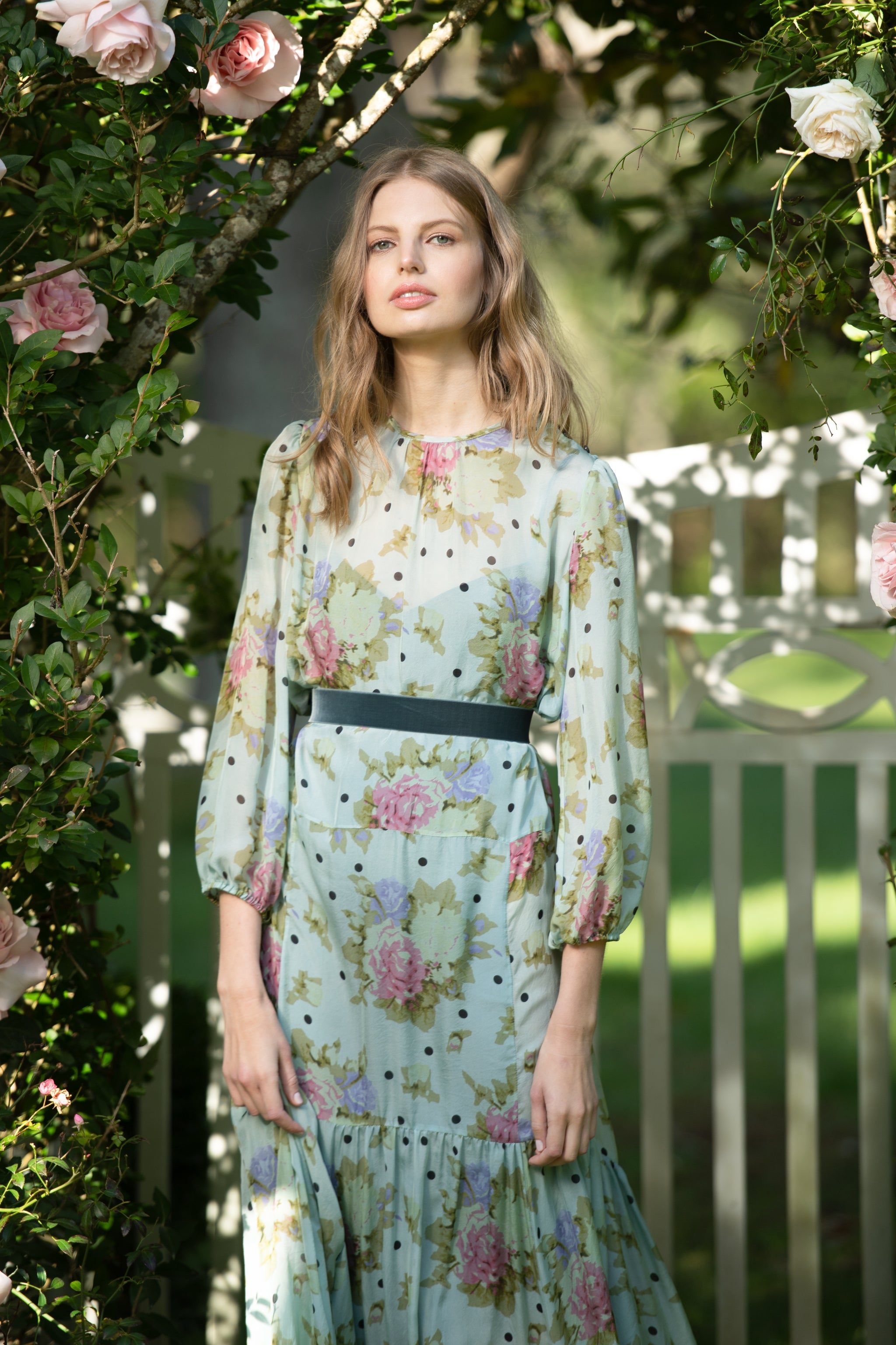 The Iris Dress | English Rose Print