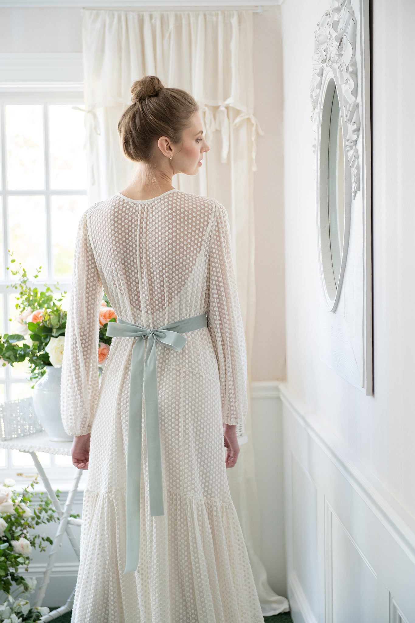 The Iris Dress | Ivory Tulle Dot