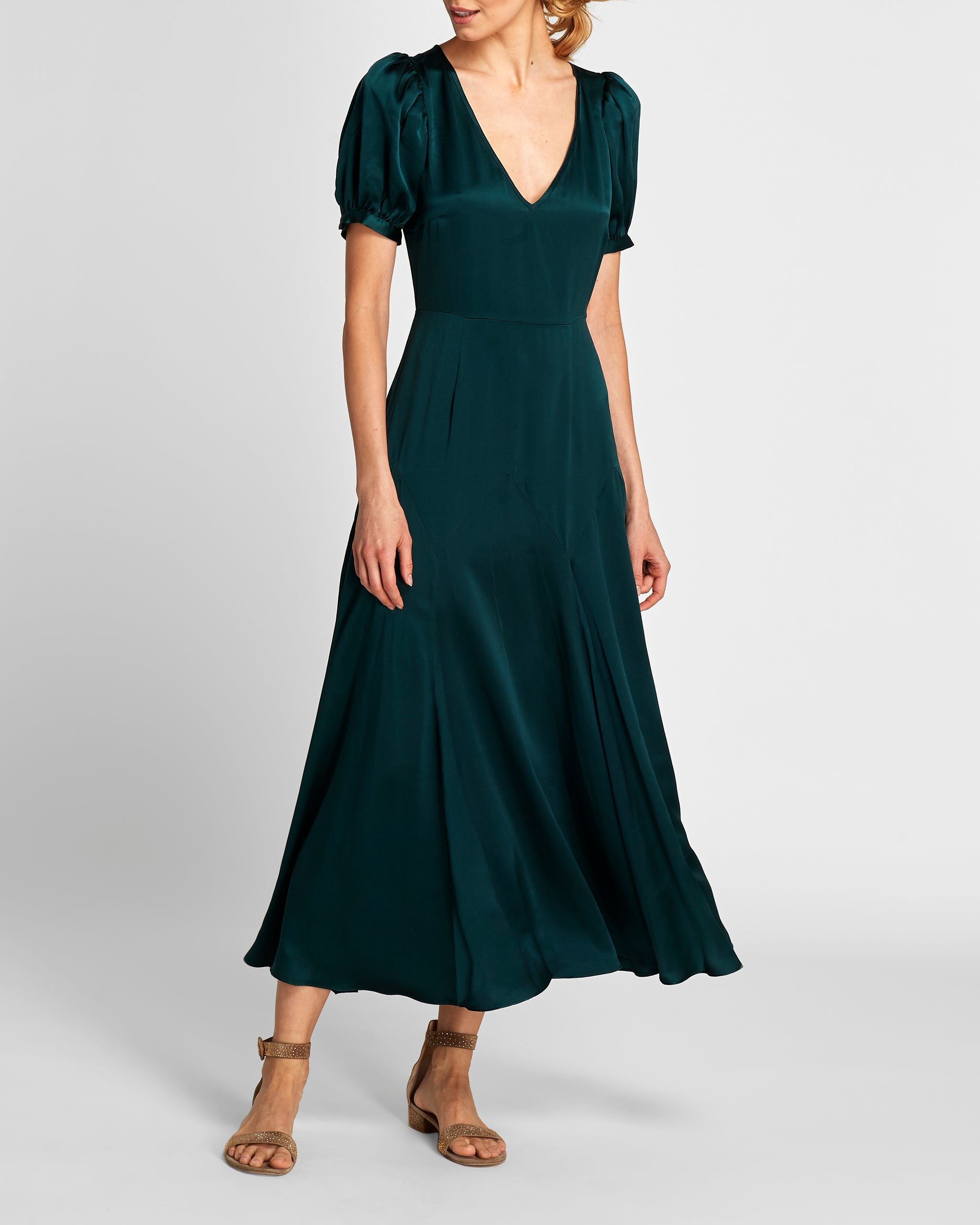 The Daisy Dress | Marine Green