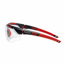 Honeywell  Safety glasses avatar black red frame clear lens