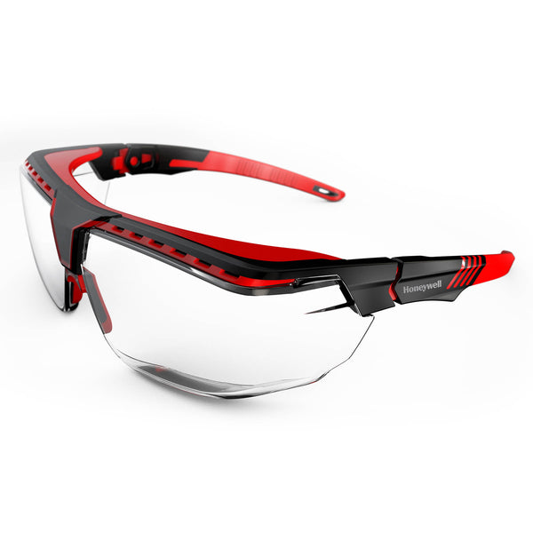 Honeywell 1035811 Avatar OTG Black & Red Frame Clear Lens Anti-Scratch Coating
