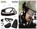 Bolle Tactical X800 Ballistic Goggles with military