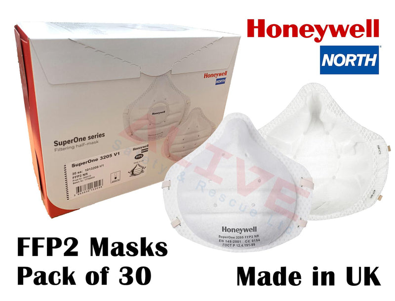Honeywell SuperOne 3205 V1 FFP2 NR D Respirator Mask - 30 units/Box
