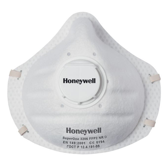Honeywell SuperOne 3206 FFP2 NR D Respirator Mask - Pack of 3