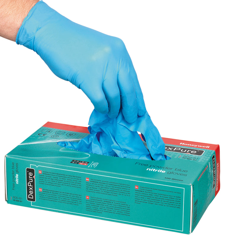 Honeywell DexPure 800-81 Powder Free Nitrile Gloves 100-Piece