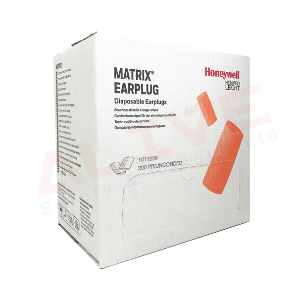 Honeywell Howard Leight Matrix Orange Earplugs SNR 29 dB