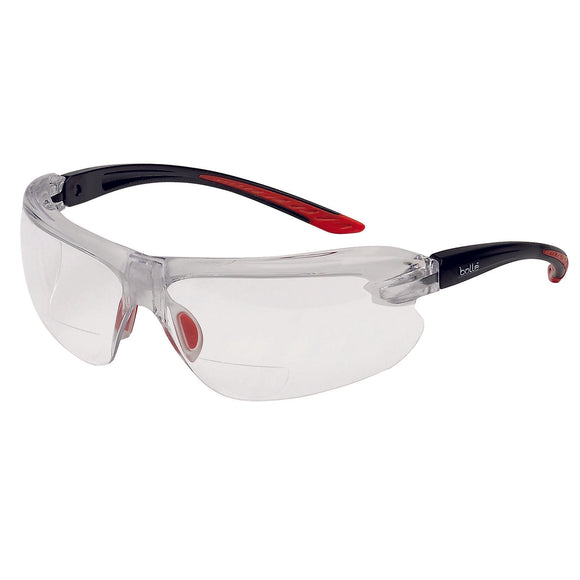 Bolle IRI-S Safety Glasses Clear Lens with Reading Area