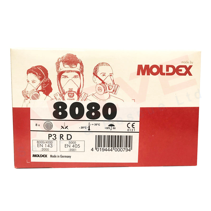 Particle Filter - Moldex 8080 - P3 R D - Box of 8 pieces