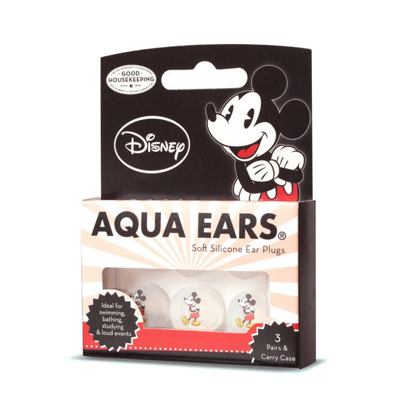 Disney Mickey Mouse AQUA EARS Soft Silicone EarPlugs - 3 Pairs