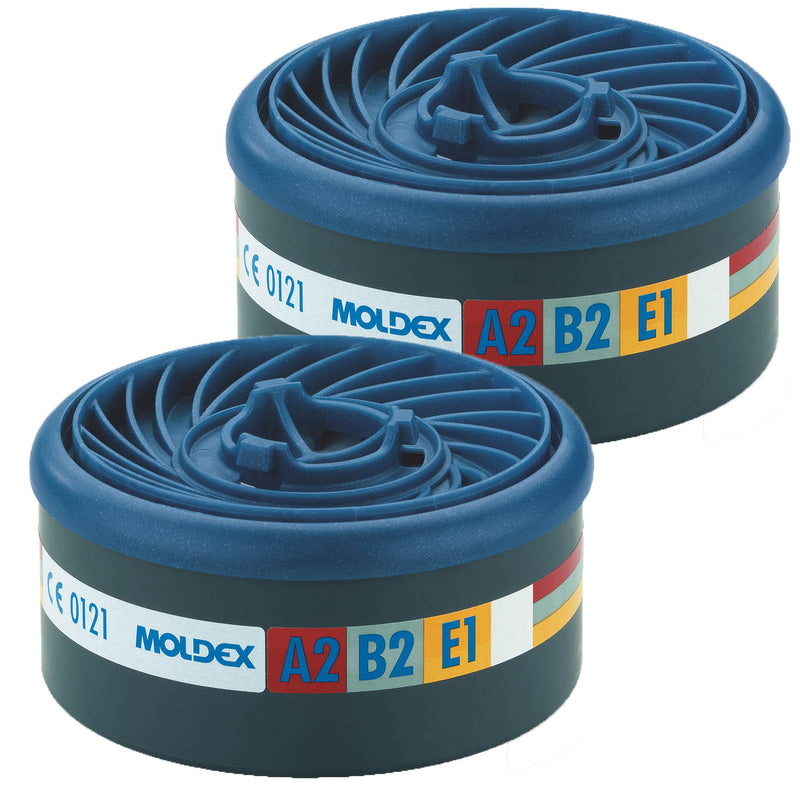 Moldex 9500 EasyLock A2B2E1 Gas Filters pair