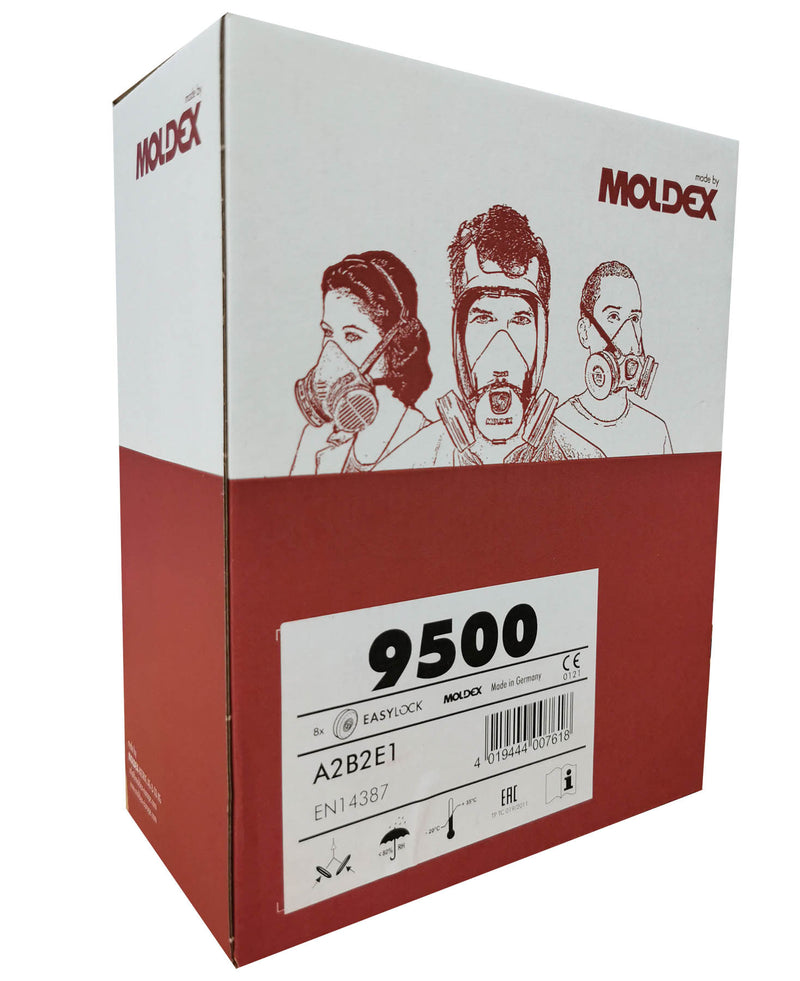 Moldex 9500 EasyLock A2B2E1 Gas Filters box