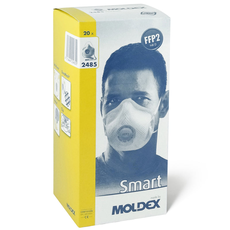 Moldex 2485 Smart FFP2 NR D Valved Mask Box of 20