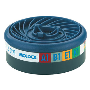 Moldex 9400 EasyLock A1B1E1K1 Gas Filters 1 Pair