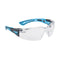 Bolle RUSH+ RUSHPPSIB Safety spectacles - Black/Blue Temples Clear Lens