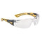 Bolle RUSH+ RUSHPPSIY Safety Glasses - Black/Yellow Temples Clear Lens