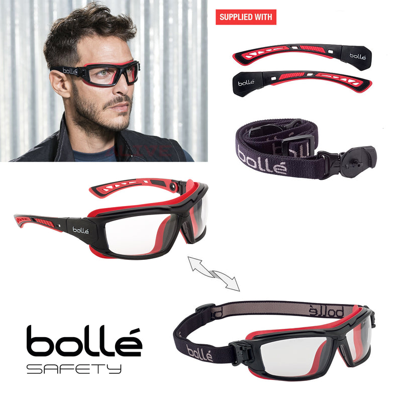 Bolle ULTIM8 ULTIPSI Safety Goggles Clear Lens