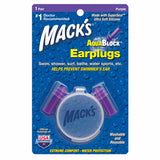 Mack's Aqua Block® Purple Ear Plugs 1 Pair