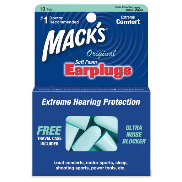Mack's Original Soft Foam Ear Plugs 10 Pairs