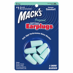 Mack's Original Soft Foam Ear Plugs 3 Pairs