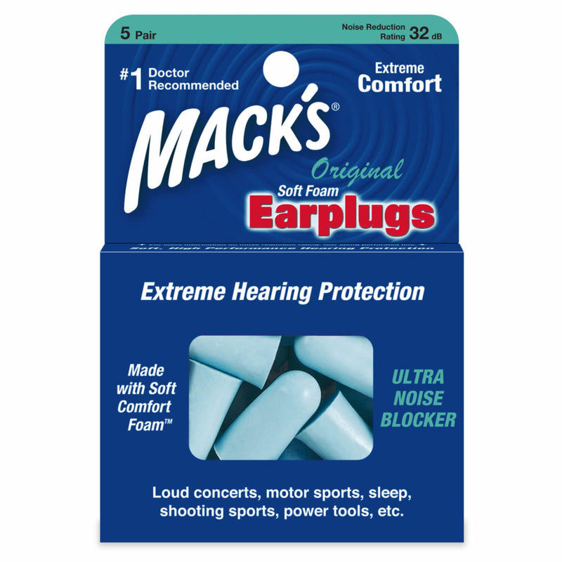 Mack's Original Soft Foam Ear Plugs 5 Pairs