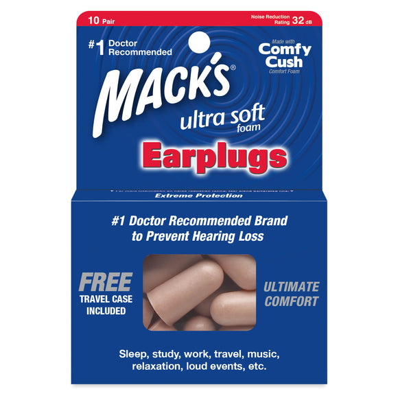 Mack's Ultra Soft Foam Ear Plugs 10 Pairs