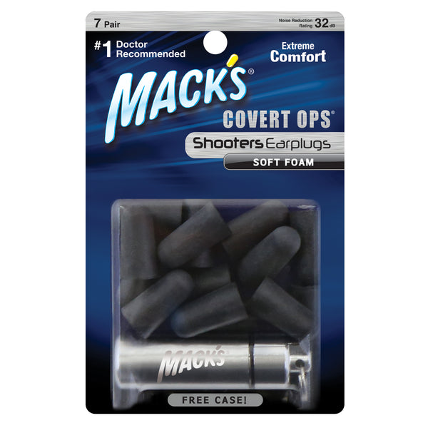 Mack's Shooters Covert Ops Soft Foam Ear Plugs 7 Pairs