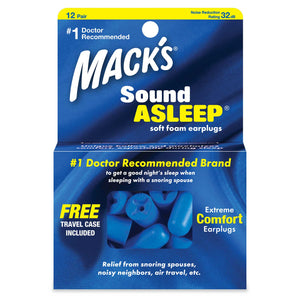 Mack's Sound Asleep Soft Foam Ear Plugs 12 Pairs