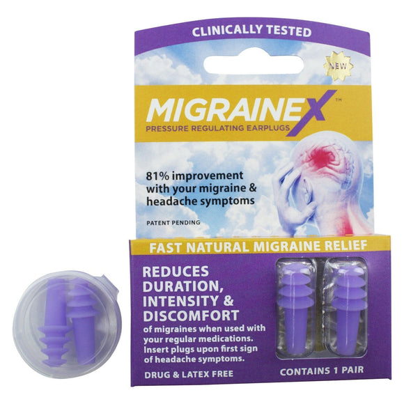 MigraineX Pressure Regulating Earplugs 1