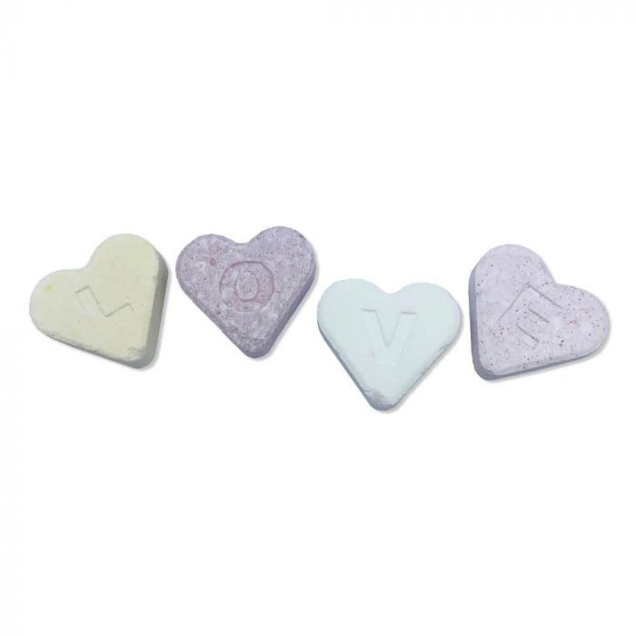 Candy hearts vegan sweets