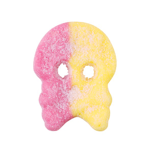 vegan sweets raspberry & lemon foam skull