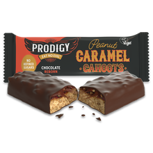 Load image into Gallery viewer, Prodigy vegan chocolate peanut caramel cahoots