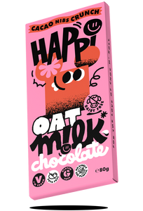 Happi oat milk vegan chocolate cacao nib crunch