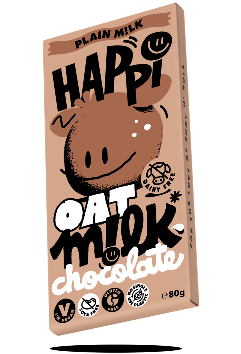 Happi oat milk vegan chocolate plain