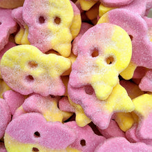 Load image into Gallery viewer, vegan sweets raspberry lemon foam skulls