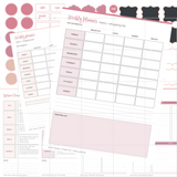 Basic Menu Planner Kit - Pink