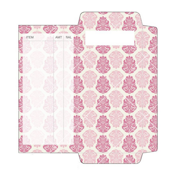 Cash Envelope - Pink Damask